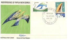 (888) Australia  FDC - 1975 - Indepedence Of Papua New Guinea (Bankstown Postmark) - Premiers Jours (FDC)