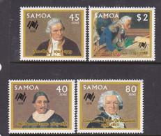 Samoa SG 758-761  1987 Bicentenary Of Australian Settlement,mint Never Hinged - Samoa