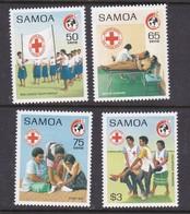 Samoa SG 826-829 1989 Red Cross 125th Anniversary,mint Never Hinged - Samoa