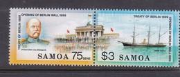 Samoa SG 844-845  1990 Treaty Of Berlin,mint Never Hinged - Samoa