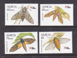 Samoa SG 868-871 1991 Philanippon,Samoan Hawkmoths,mint Never Hinged - Samoa