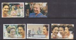 Samoa SG 876-880 1992 40th Anniversary Of Queen Elizabeth Accession,mint Never Hinged - Samoa