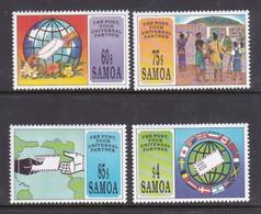 Samoa SG 903-906  1993 World Post Day,mint Never Hinged - Samoa