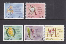 Samoa SG 907-911  1993 Christmas,mint Never Hinged - Samoa