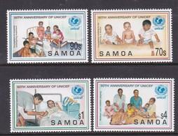 Samoa SG 1000-1003 1996 50th Anniversary Of Unicef,mint Never Hinged - Samoa
