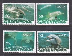 Samoa SG 1014-1017 1997 Greenpeace  26th Anniversary,mint Never Hinged - Samoa