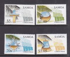 Samoa SG 1034-1037 1998 Christmas,mint Never Hinged - Samoa