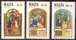 MALTA 1983 Christmas MNH Set Mi. 687 / 689 - Malta