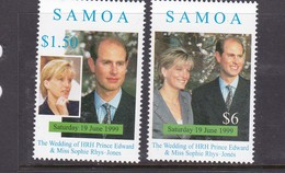 Samoa SG 1042-1043 1999 Royal Wedding,mint Never Hinged - Samoa