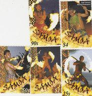 Samoa SG 1070-1074 2001 Fire Dancers,mint Never Hinged - Samoa