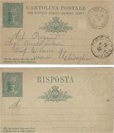 """1901- C P E P 15 Cent. """"con Risposta Pagata """"  Cad Republica Di S MARINO * FERRAVALLE * - Saint-Marin"""