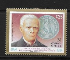CHILI 1984 BANQUE D'ETAT  YVERT N°672  NEUF MNH** - Chile