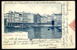 Cpa Espagne La Coruna -- Calle De La Marina   MARS18-15 - La Coruña