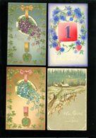 Beau Lot De 60 Cartes Postales De Fantaisie Gaufrées Gaufrée      Mooi Lot Van 60 Postkaarten Fantasie Reliëf - 60 Scans - Postcards