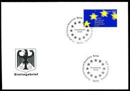 40459) BRD - Mi 2373 - FDC - 55C     10 Jahre Vertrag Von Masstrich (EU) - [7] República Federal