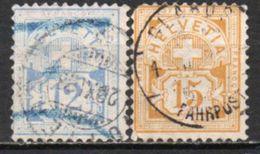 Suisse  61/62  Obl - 1882-1906 Stemmi, Helvetia Verticalmente & UPU