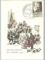 JOURNEE DU TIMBRE 1948 LYON - Commemorative Postmarks