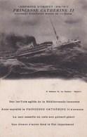 """Militaria - Campagne D'Orient 1914-1917. Croiseur Auxiliaire Russe """"Princesse Catherine II"""" - Guerre 1914-18"""
