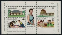 Nouvelle Zélande // New Zealand // 1974 // Bloc-feuillet Commémoration  ** Y&T 36 - Nouvelle-Zélande
