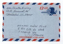 Aérogramme ETATS UNIS U.S.A. USA Oblitération CHARLESTON 07/05/1969 - Luftpost
