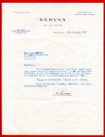 FACTURE (Réf:C128) (VIEUX PAPIERS -Documents Commerciaux) SERVAN JOAILLIER - ORFÈVRE - BORDEAUX - France