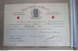Od 609 - Rood Kruis Van Belgie Diploma Ambulancier 1934 - Diploma & School Reports