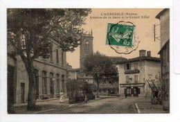- CPA L'ARBRESLE (69) - Avenue De La Gare Et Le Grand Hôtel 1913 (HOTEL DU MIDI) - Photo Delorme - - L'Arbresle