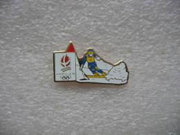 Pin's Albertville 92, Ski De Descente - Badges