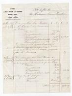 Note De Frais Facture à En-tête Etude De Me Thion De La Chaume Notaire à Paris Rue Laffitte 1855 - France