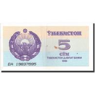 Billet, Uzbekistan, 5 Sum, 1992, 1992, KM:63a, SUP - Ouzbékistan