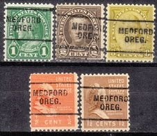 USA Precancel Vorausentwertung Preo, Locals Oregon, Medford 703, 5 Diff. Perf. 11x10 1/2 - Vereinigte Staaten