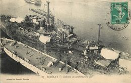 """LORIENT - Cuirassé """"Courbet"""" En Achèvement à Flot. - Guerre"""
