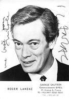 ROGER LANZAC -DEDICACE- - Autographes