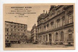 - CPA LYON (69) - RESTAURANT RIVIER - 1, Place Des Terreaux - Photo SADAG - - Lyon