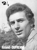 ROLAND DUFRENNE -DEDICACE- - Autographes