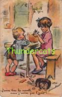 CPA ILLUSTRATEUR  ENFANTS ARTIST SIGNED CHILDREN CARD GERMAINE BOURET ( PLI ) - Bouret, Germaine