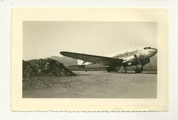 20 CALVI PHOTOGRAPHIE 1956  AVION COMPAGNIE TUNIS AIR AVIATION CORSE - Aviation