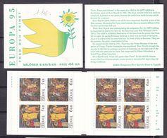 1995 Svezia Sweden EUROPA CEPT EUROPE 3 Libretti MNH** 3 Booklets - Europa-CEPT