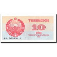 Billet, Uzbekistan, 10 Sum, 1992, 1992, KM:64a, SUP+ - Ouzbékistan