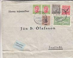 Islande - Lettre De 1928 ° - Oblit Reykjavik - Exp Vers Isafirdi - Rare - 1918-1944 Administration Autonome