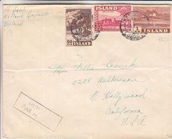 Islande - Lettre De 1949  ? - Oblit Keflavik - Exp Vers Les Etats Unis - Californie - 1918-1944 Administration Autonome