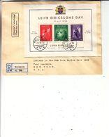 Islande - Lettre Recom De 1938 ° - Oblit Reykjavik - Exp Vers New York - Avec Bloc Leifr Eiricssons - 1918-1944 Administration Autonome