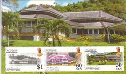 2007 Brunei House Of 12 Roofs Architecture Buildings  Souvenir Sheet MNH - Brunei (1984-...)