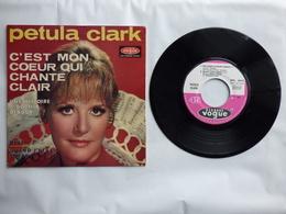 EP 45T PETULA CLARK LABEL VOGUE EPL 8675  C'EST MON COEUR QUI CHANTE CLAIR - Disco & Pop