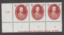 DDR Nr. 576 DV Mit Plattenfehler Feld 91 Und DV Nachgraviert !!! - Postfrische Eckrandeinheit - DDR