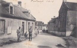 02 PONTAVERT  ROUCY  Rue Du VILLAGE Animée  SOLDATS Brassards CROIX ROUGE Ecrite 1915 - Francia