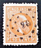 EFFIGIE DE GUILLAUME III 1870/86 - OBLITERE - YT 8 - MI 9x - DENTELE 12 1/2 - OBLITERATION GROS POINTS - Niederländisch-Indien
