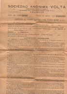 Papel De Suminstro De Energia Electrica De 1929  Valencia. - España
