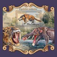 MOZAMBIQUE 2018 - Extinct Species S/S. Official Issue - Prehistorisch