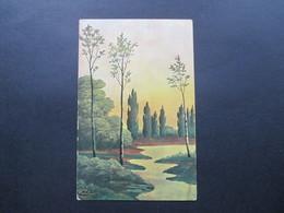 AK Österreich 1917 Künstlerkarte. Landschaft. Stempel Kourim Tschechien / Böhmen. - Künstlerkarten